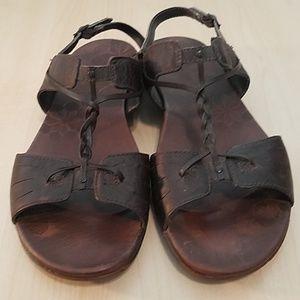 merrell womens Micca mahogany leather sandals 8
